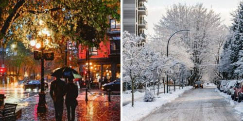 BC's November Weather Forecast Is An Absolute Mess & These Areas Get Their First Snowfall