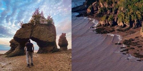 Cette plage surréelle au Nouveau-Brunswick est à voir au moins une fois dans ta vie