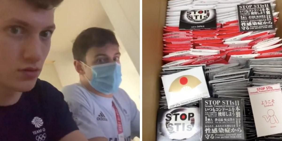 Two Olympians At The Tokyo Games Just Showed How Many Condoms They Got & It's A LOT
