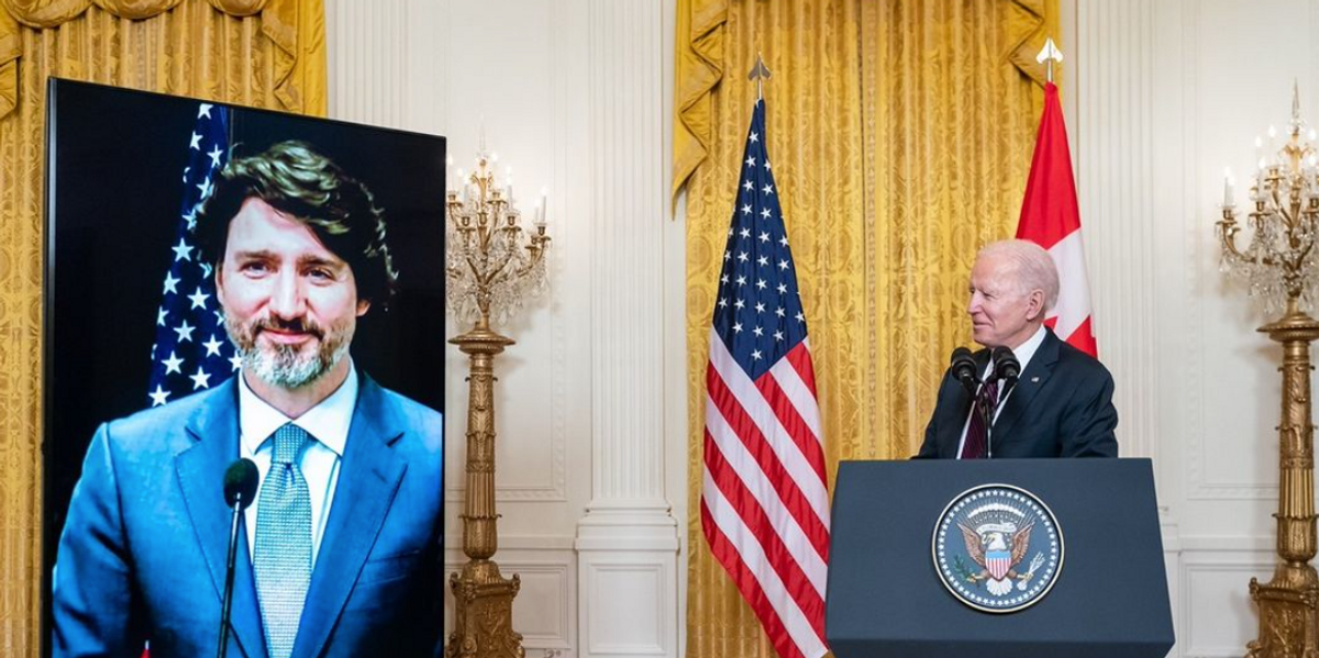 Trudeau Just Chatted With Biden About Everything From The Canada-US Border To The Olympics