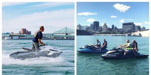 Tu peux faire de la moto-marine à Montréal à moins de 90 $ la demi-heure avec une vue WOW