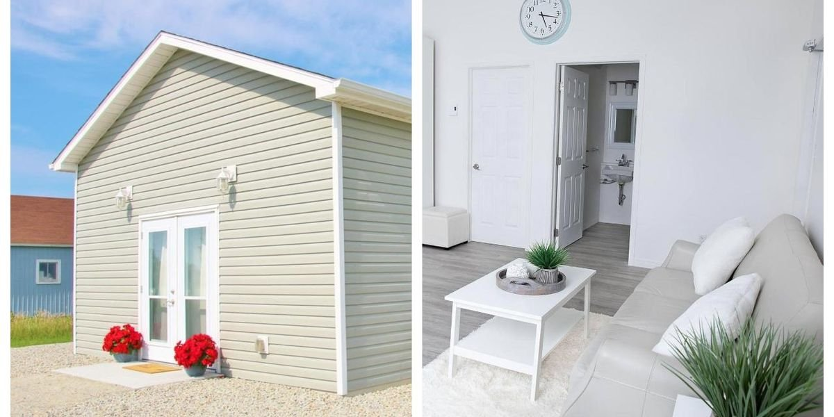 This Tiny Home In Nova Scotia Looks Like A Shed From Outside But Is Pretty Fancy Inside