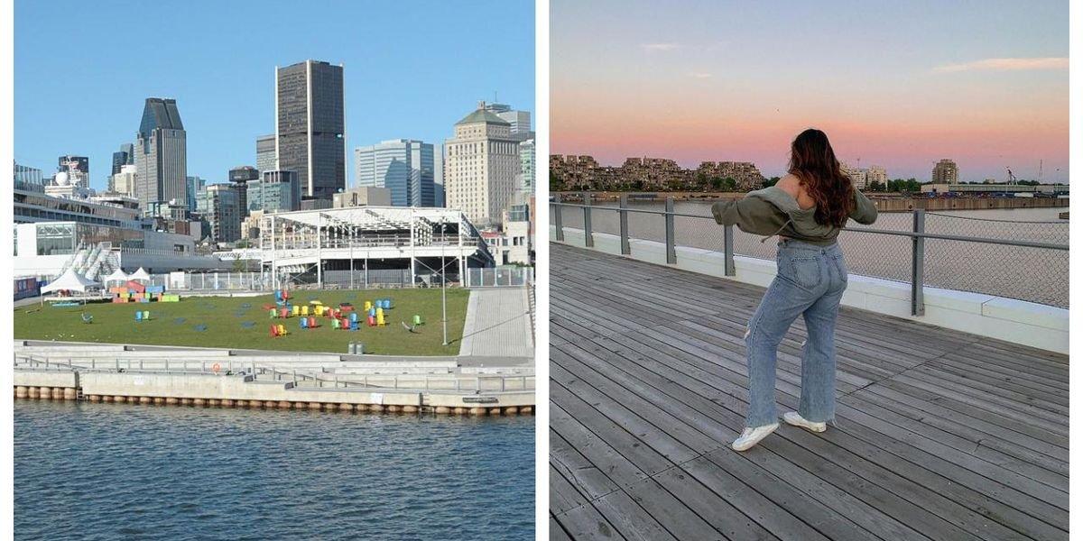 Ce spot au bord de l'eau à Montréal est idéal pour observer les couleurs du crépuscule