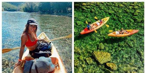 Tu peux traverser cette rivière cristalline en kayak sur 20km en Gaspésie et c'est magique