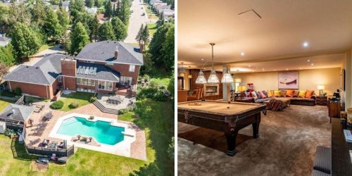 This Huge Ontario Home For Sale Is Actually Under $1M & Has Too Many Rooms To Count