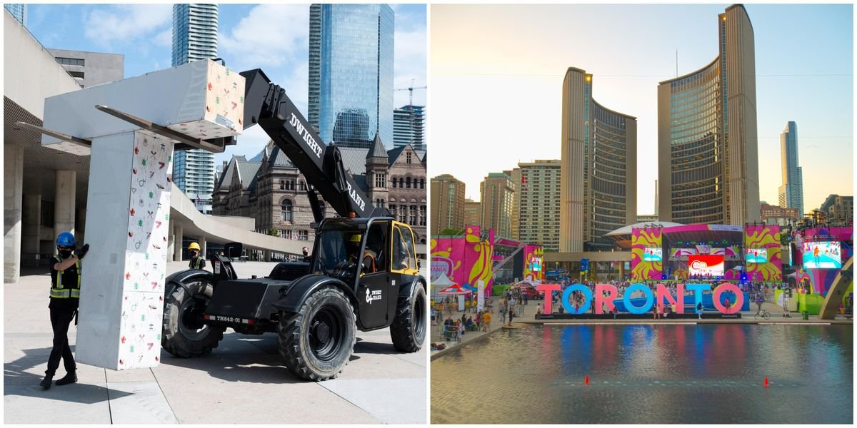 The Iconic Toronto Sign Just Got Torn Down From Nathan Phillips Square (VIDEO)