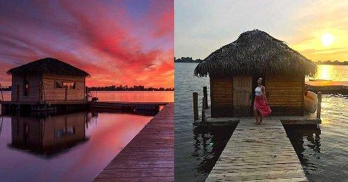 Tu peux te sentir comme à Bora-Bora dans ces huttes paradisiaques sur l'eau au Québec