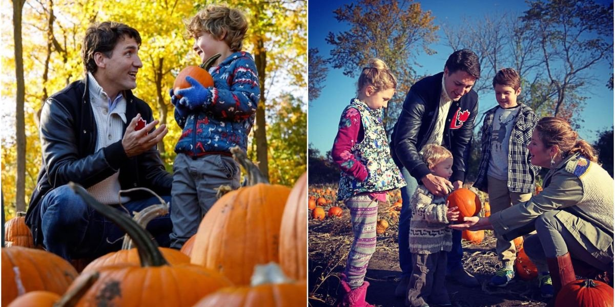 Sophie Grégoire Trudeau Shared The Sweetest Thanksgiving Photo Of Justin In Dad-Mode