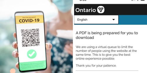 Ontario's Vaccine Passports Are In Effect But The Website Is Already Having Tech Issues