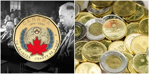 Canada's First-Ever Coloured Loonie Just Came Out & It's So Pretty