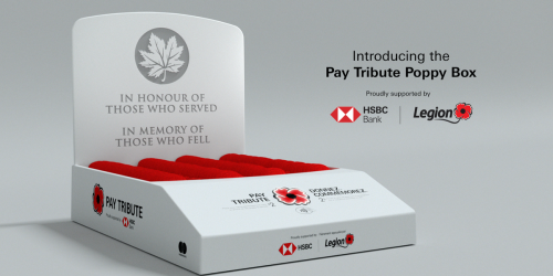 Canada's Poppy Donation Boxes Are Getting A 2020 Upgrade & Some Have Touchless Payments