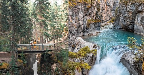 This Short Alberta Hike Leads You To A Hidden Canyon Oasis With Baby Blue Water