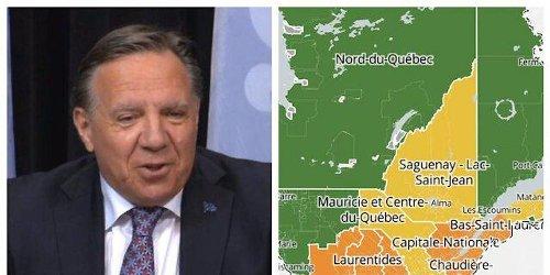 Voici toutes les régions qui passent en zone jaune dès la semaine prochaine au Québec