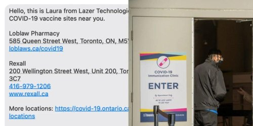 You Can Now Find An Ontario Vaccine Clinic Near You With Just A Single Text
