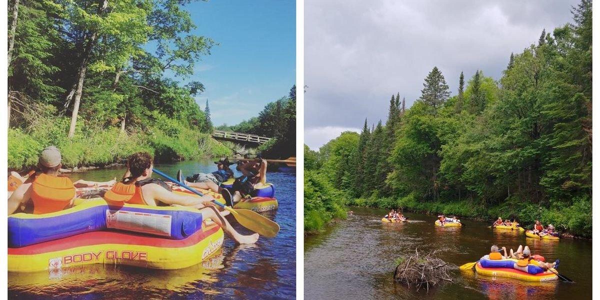 Tu peux te laisser bercer sur une rivière à 20 minutes de Québec dans ce décor enchanteur