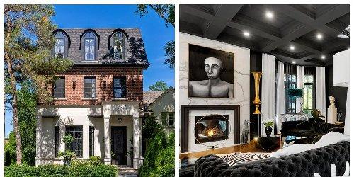 This $5.5M Toronto Home Has Major Cruella de Vil Vibes With Black & White Everything