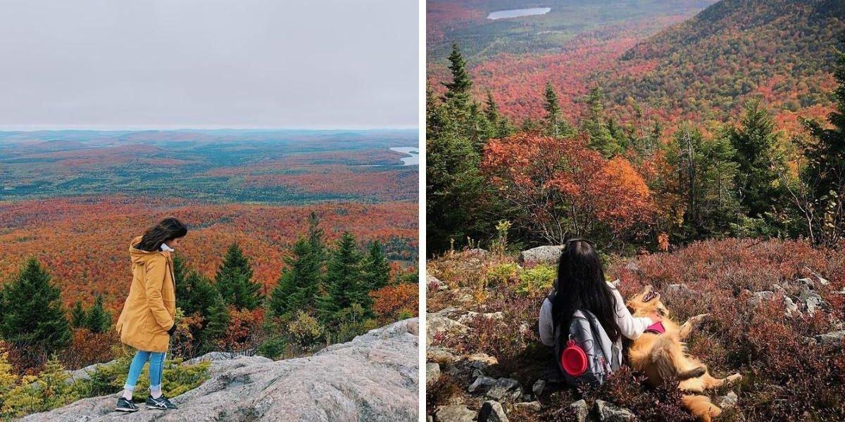 Ce sommet de 713 m à 2 h de Québec est parfait pour admirer les couleurs de l'automne