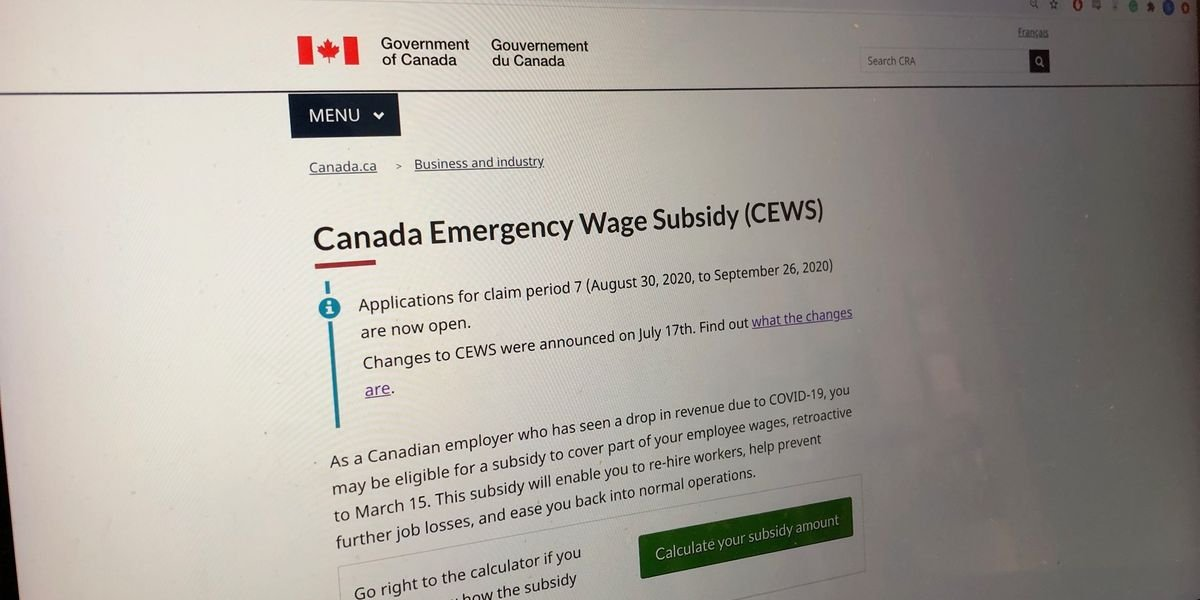 The Canada Wage Subsidy Is Being Extended All The Way Into Summer 2021