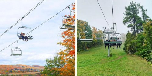 This Fall Colours Chairlift Near Toronto Will Fly You To The Top Of A Red & Gold Escarpment