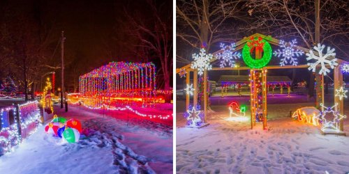 This Christmas Drive-Thru In Ontario Is Free & Has Thousands Of Twinkling Lights (VIDEOS)