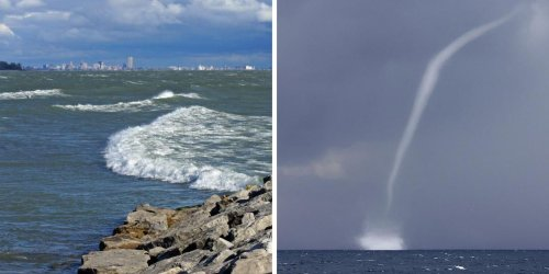 Ontario's Great Lakes Are Abnormally Warm This Season & Waterspouts Are Being Spotted