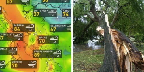 A 'Historic' Storm Is Hitting BC & This Hour-By-Hour Forecast Shows When It'll Get Wild