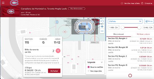 Tu peux aller voir le 6e match du CH à Montréal et le prix des billets est ridicule