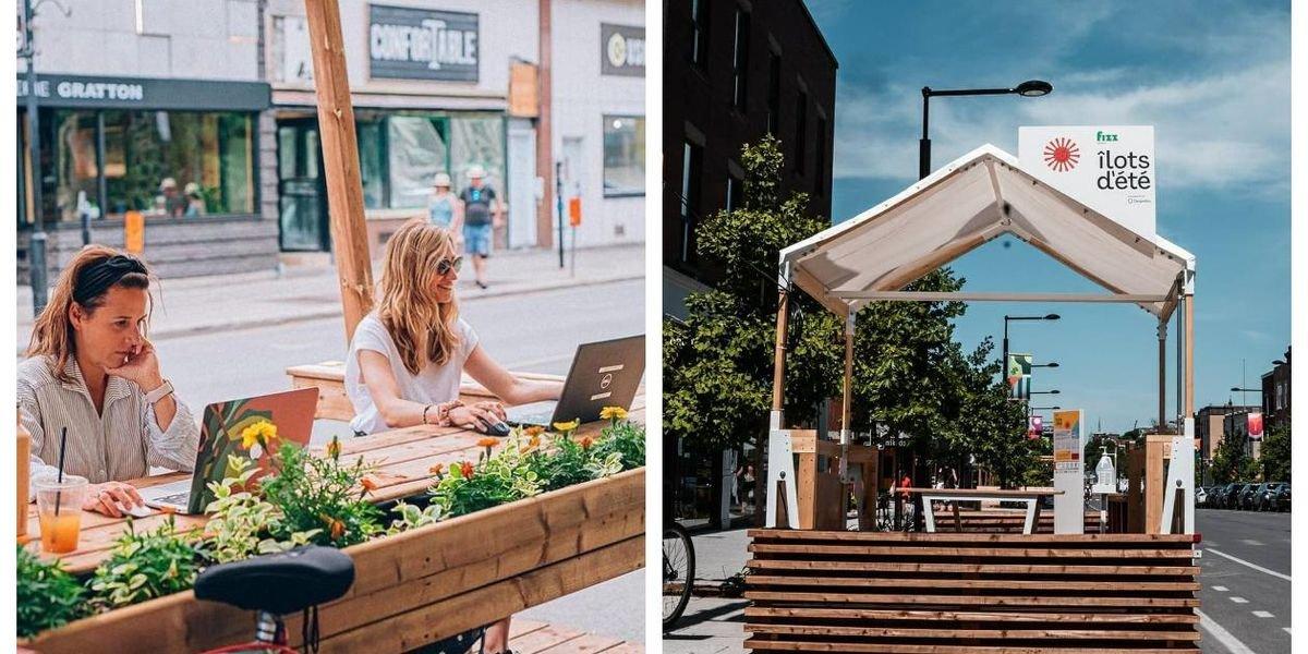 Tu vas pouvoir travailler en mode terrasse dans ces cabane avec Wi-Fi à Montréal cet été