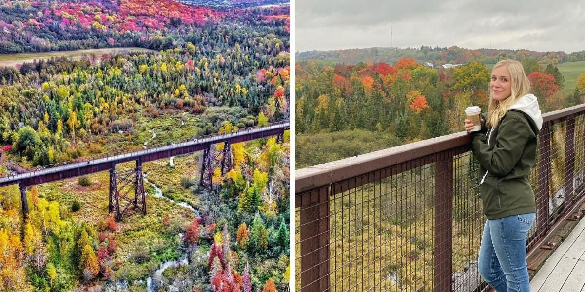 This Ontario Trail Will Lead You Over A Trestle Bridge With The Most Stunning Fall Views
