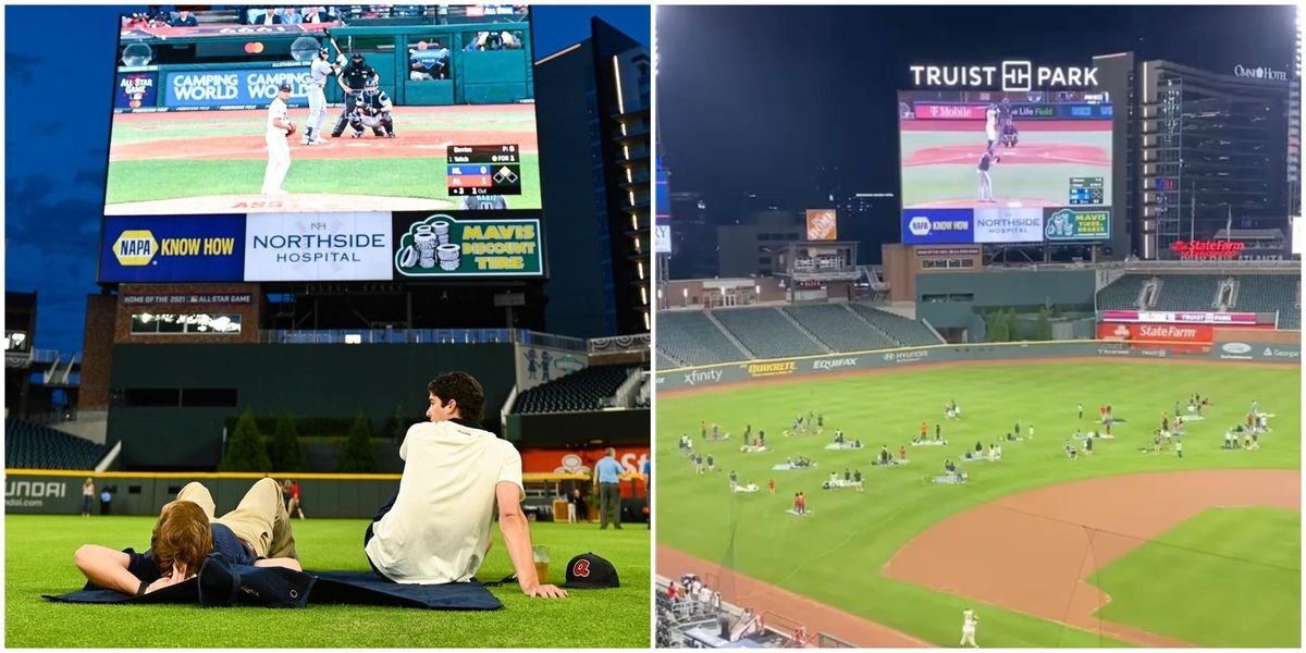 You Can Picnic On The Field At Truist Park & Watch The Braves Play On The Big Screen