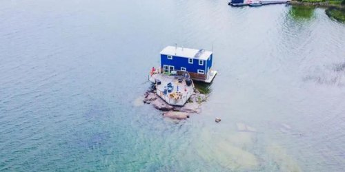 This House For Sale In Ontario Is Actually In The Middle Of A River & Costs $400K