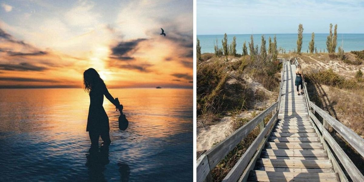 You Can See Some Breathtaking Sunsets From This Dune-Filled Beach In Ontario