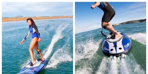 Tu peux faire du surf électrique allant jusqu'à 45 km/h à moins d'une heure de Montréal