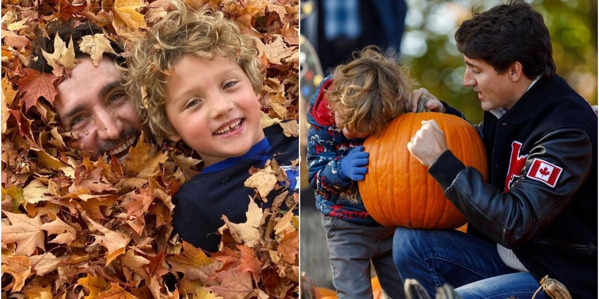 9 Times Justin Trudeau & His Family Showed Just How Much They Love Fall (PHOTOS)