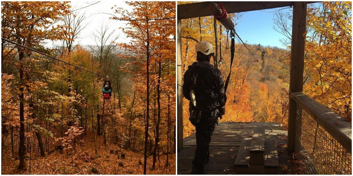 7 tyroliennes parfaites pour avoir les plus belles vues d'automne au Québec
