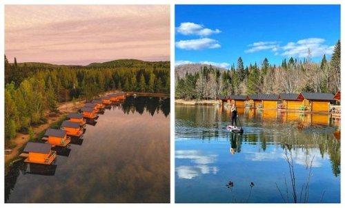 Tu peux dormir dans ces cabanes flottantes pour des vacances de rêve à 1h30 de Montréal