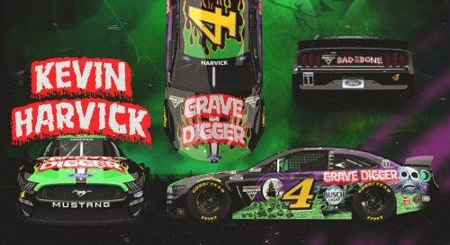 Kevin Harvick to run 'Grave Digger' paint scheme at Nashville | NASCAR