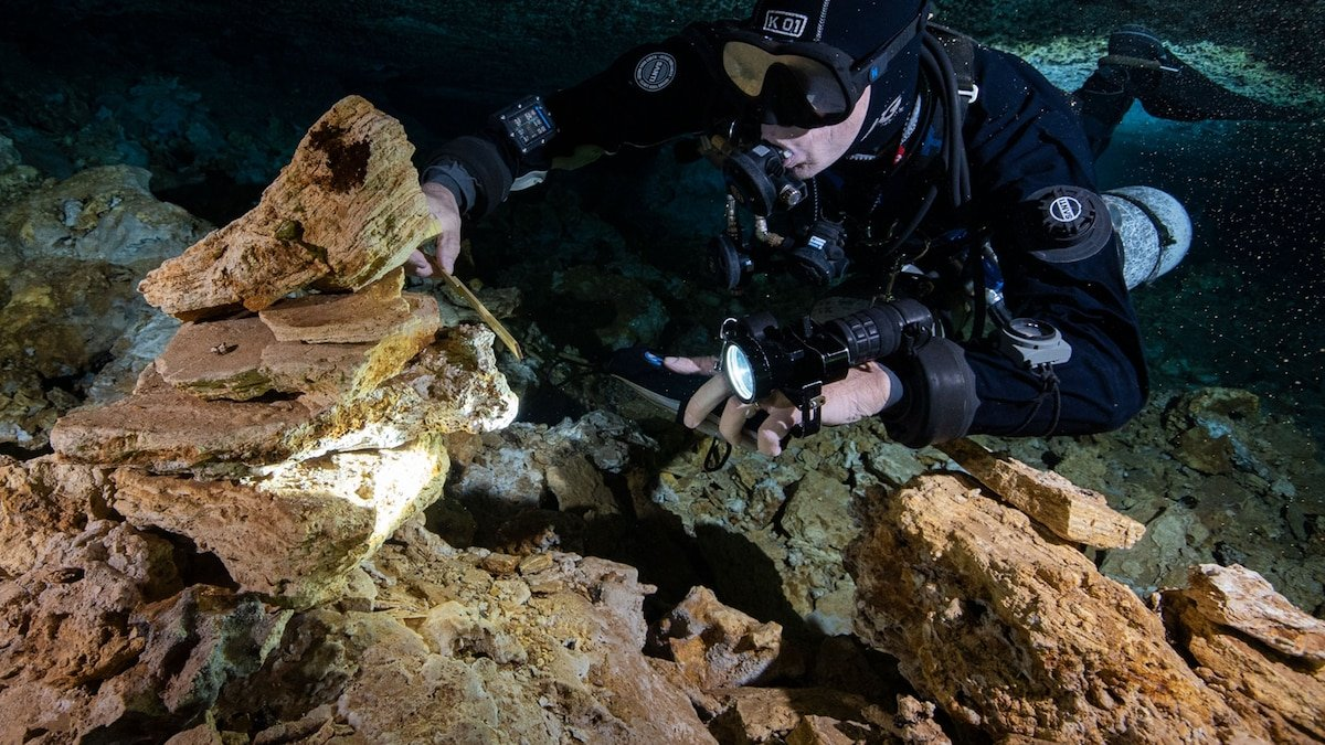11,000-year-old mine in underwater cave surprises archaeologists