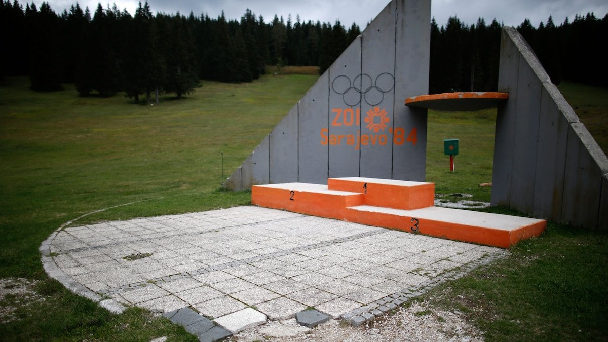 Look inside the abandoned stadiums of past Olympics