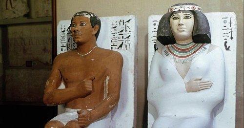 """Las estatuas """"vivas"""" de Rahotep y Nofret"""