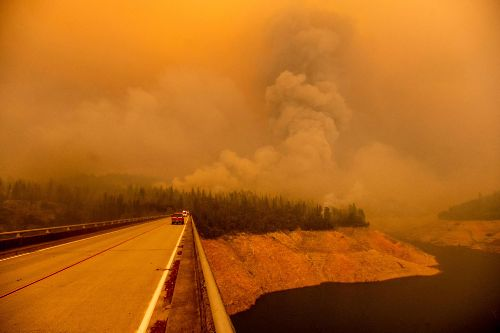 Foreboding orange skies shroud Northern California