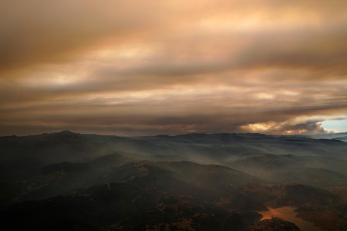 In lightning-struck California, the smoke is now scarier than the pandemic