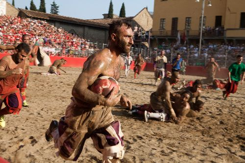 See the violent Italian sport that inspired modern football