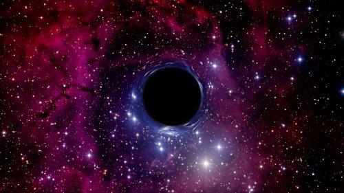 Inédit : de la lumière détectée derrière un trou noir