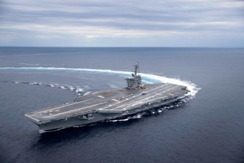 This Big U.S. Navy Carrier Did a High-Speed Turn (The Video Is Sick)