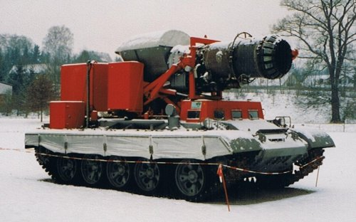 This Russian Tank Fights Fires With a Jet Engine