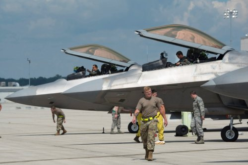 Who Wins This Fight: An F-22 Stealth Fighter , or a Tropical Storm?