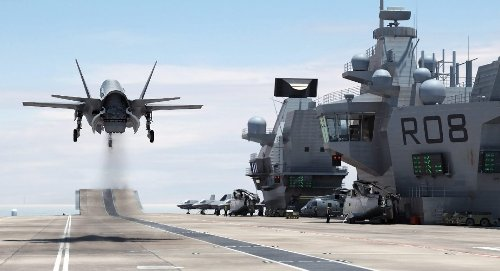 Need to Deliver an Engine to an Aircraft Carrier? The F-35 Can Do it No Problem.