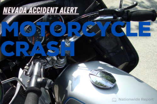 A car vs. motorcycle accident injured 1 person on Decatur Boulevard (Las Vegas, NV)