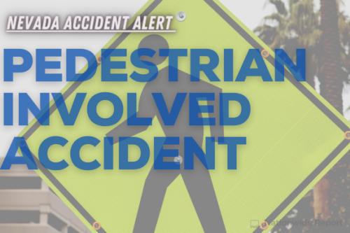 An auto-pedestrian crash injured a man and a toddler near Boulder Highway (Las Vegas, NV)
